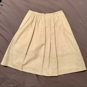 Madewell wax coated linen skirt
